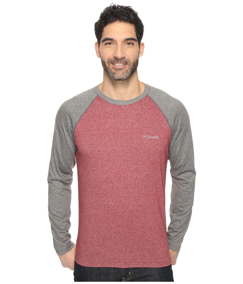 Columbia - Thistletown Park Raglan Tee (Red Element Heather/Grill Heather) Men's T Shirt