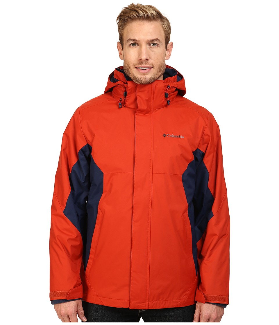 Columbia Eager Air Interchange Jacket (Rust Red/Collegiate Navy) Men