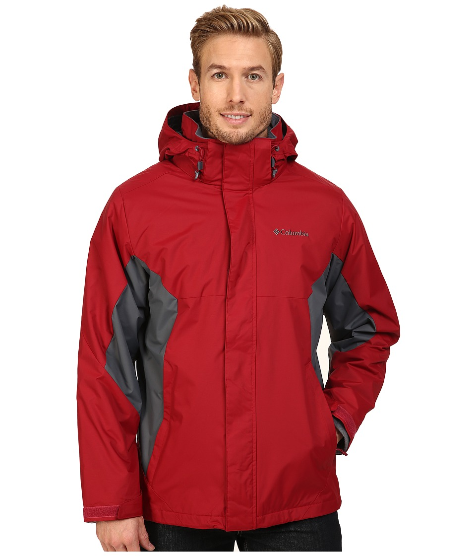 Columbia - Eager Air Interchange Jacket (Jester Red/Graphite) Men's Coat