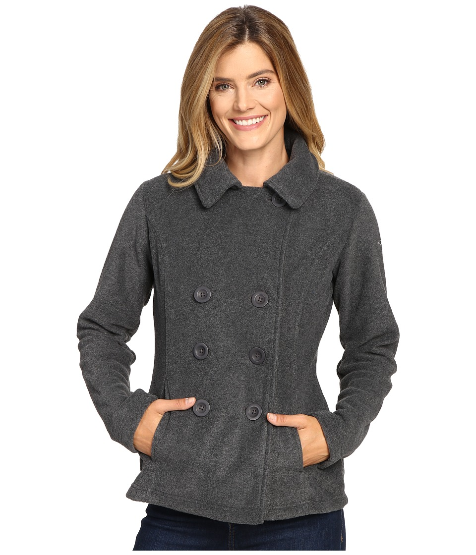 Columbia - Benton Springs Peacoat (Charcoal Heather) Women's Coat