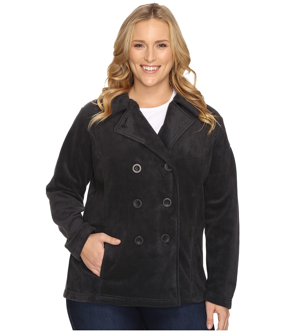 Columbia - Plus Size Benton Springs Peacoat (Black) Women's Coat