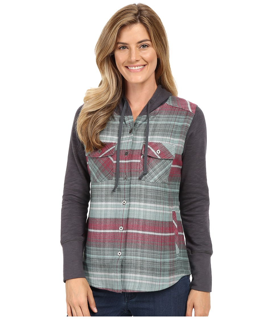 Columbia - Canyon Point Shirt Jacket (Dusty Green Plaid) Women's Coat