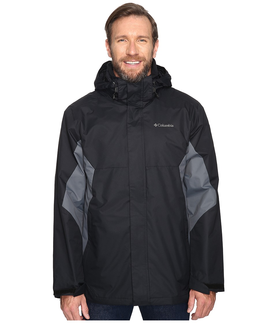 Columbia - Big Tall Eager Air Interchange Jacket (Black/Graphite) Men's Coat