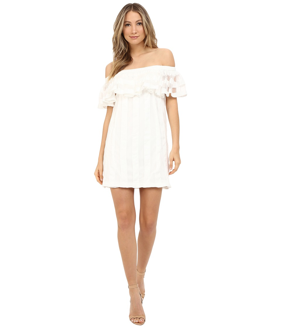 ZAC Zac Posen Crystal Dress (White) Women