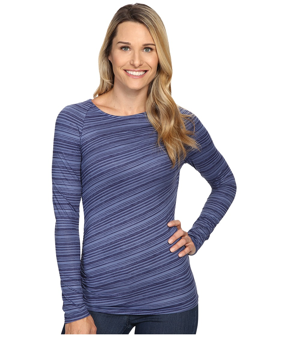 Columbia - Anytime Casual Long Sleeve Shirt (Bluebell Stripe) Women's Clothing
