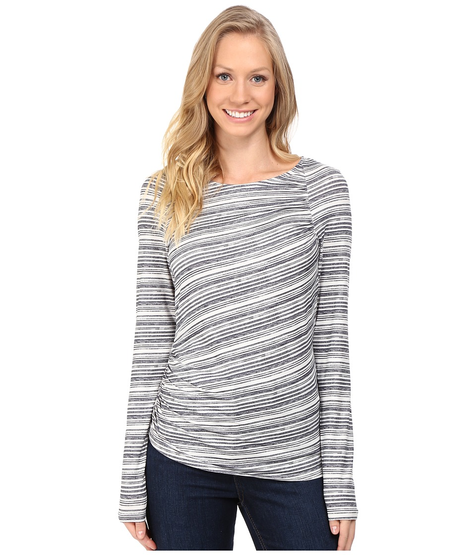 Columbia - Anytime Casual Long Sleeve Shirt (Chalk Stripe) Women's Clothing