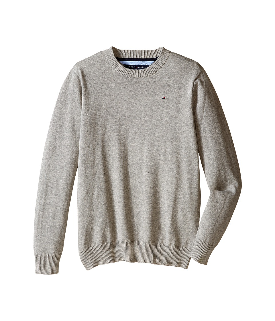 Tommy Hilfiger Kids - Long Sleeve Alan Crew Neck Sweater (Big Kids) (TH Grey Heather) Boy's Sweater
