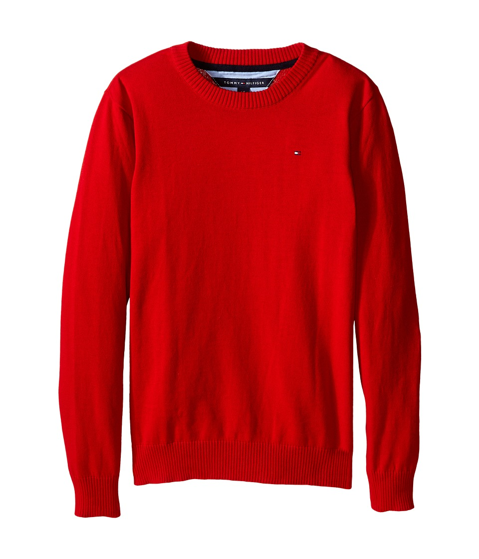 Tommy Hilfiger Kids - Long Sleeve Alan Crew Neck Sweater (Big Kids) (Bulls Eye) Boy's Sweater