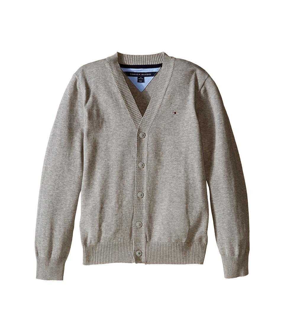 Tommy Hilfiger Kids - Long Sleeve Liam Cardigan (Big Kids) (TH Grey Heather) Boy's Sweater