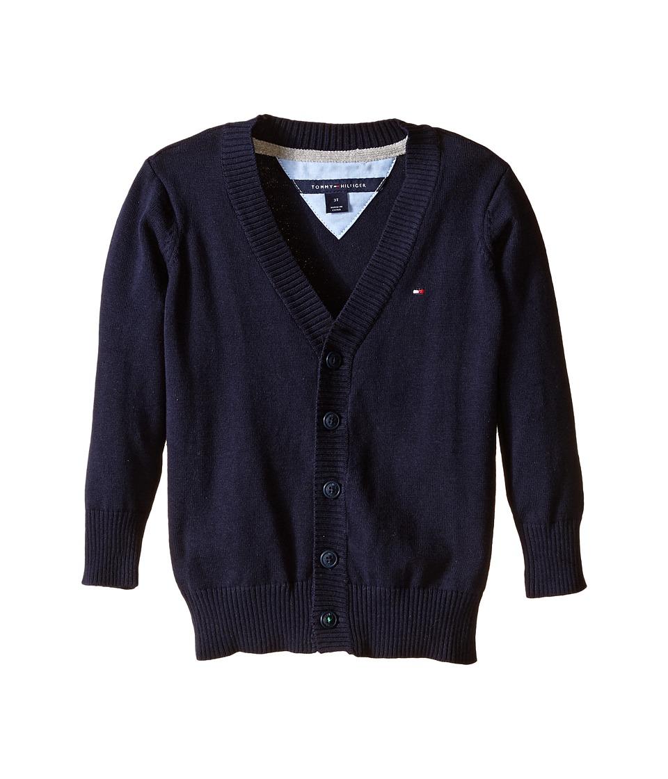 Tommy Hilfiger Kids - Long Sleeve Liam Cardigan (Big Kids) (Swim Navy) Boy's Sweater