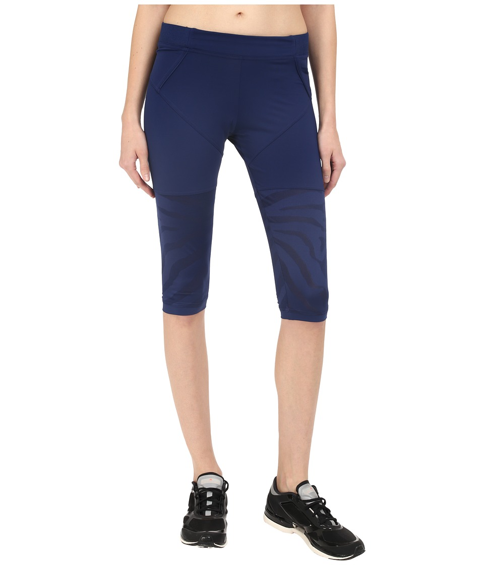 adidas by Stella McCartney - Studio Zebra 3/4 Tights AO3801 (Dark Blue) Women's Casual Pants