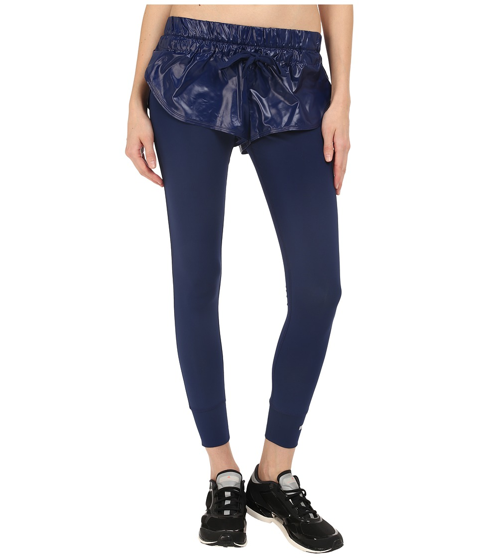 adidas by Stella McCartney - The Short Over Tights AI8896 (Dark Blue) Women's Casual Pants