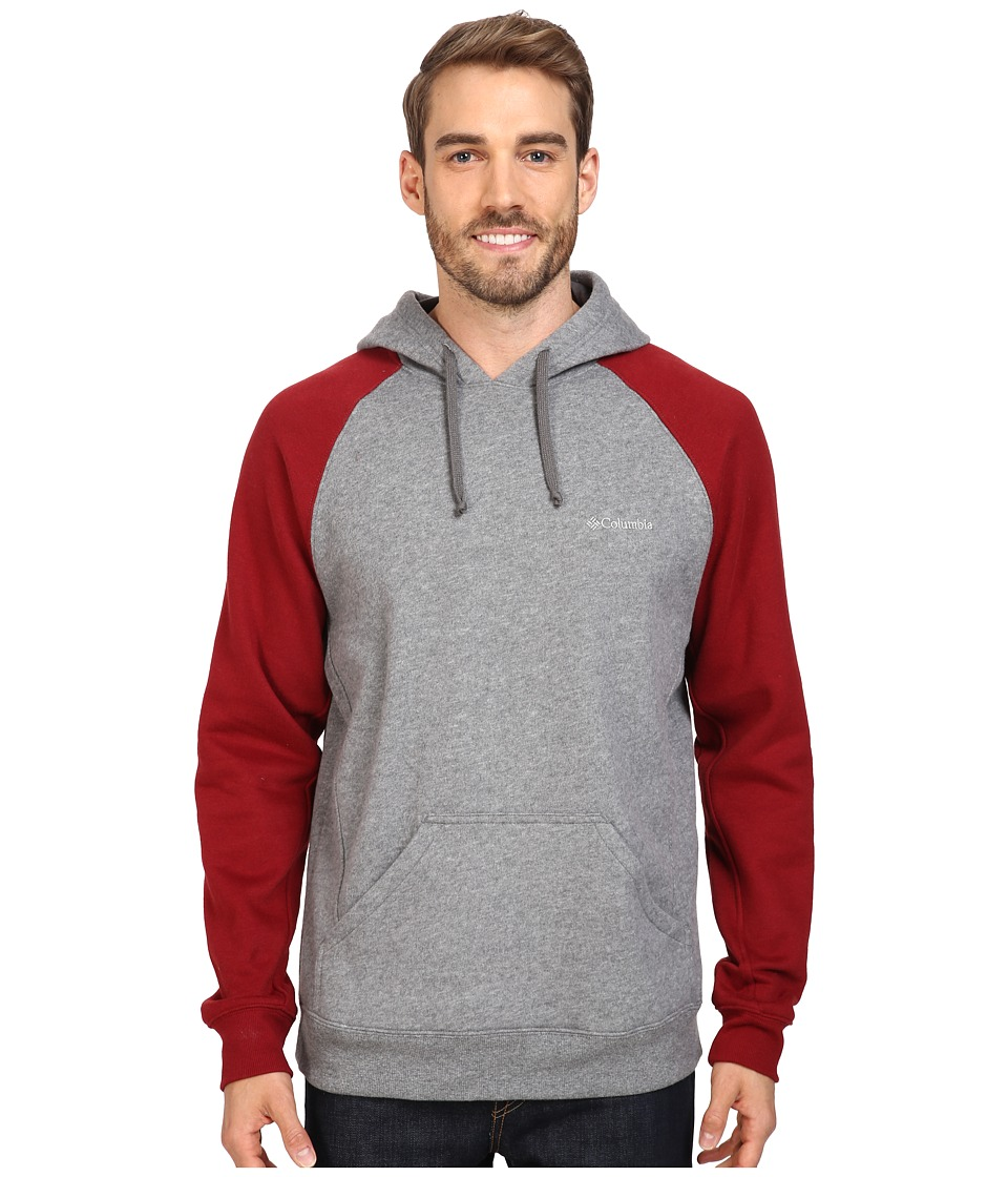 Columbia - Hart Mountain II Hoodie (Charcoal Heather/Red Element) Men's Sweatshirt