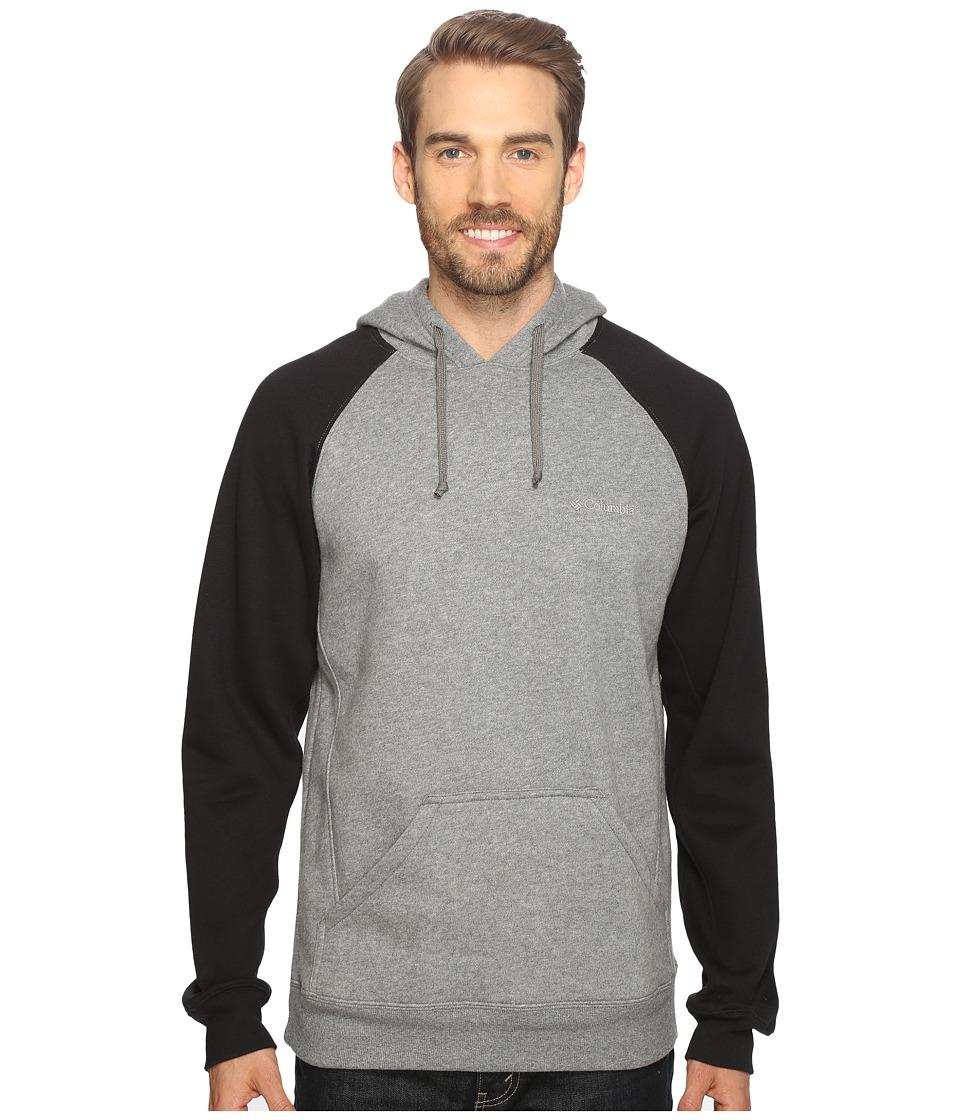 Columbia - Hart Mountain II Hoodie (Charcoal Heather/Black) Men's Sweatshirt