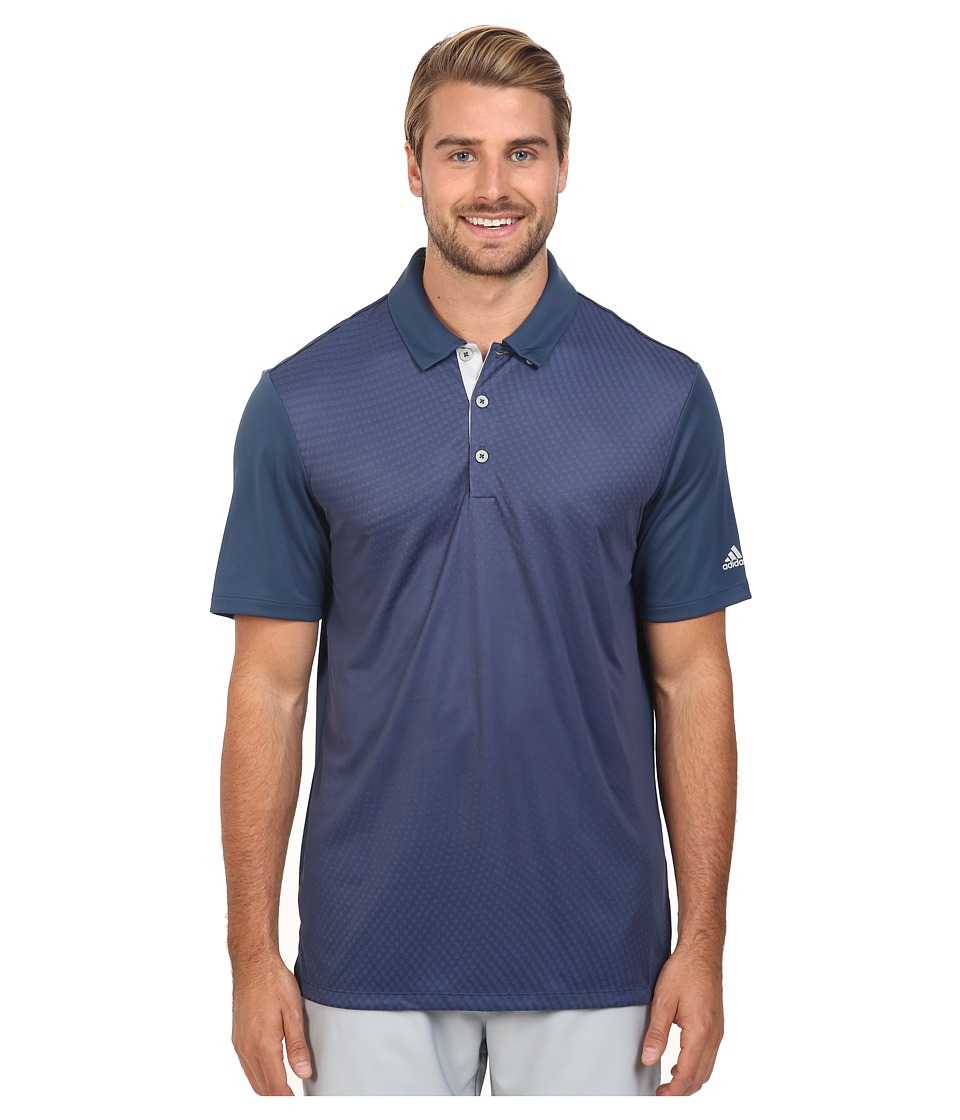 adidas Golf - CLIMACOOL Gradient Polo (Mineral Blue) Men's Clothing