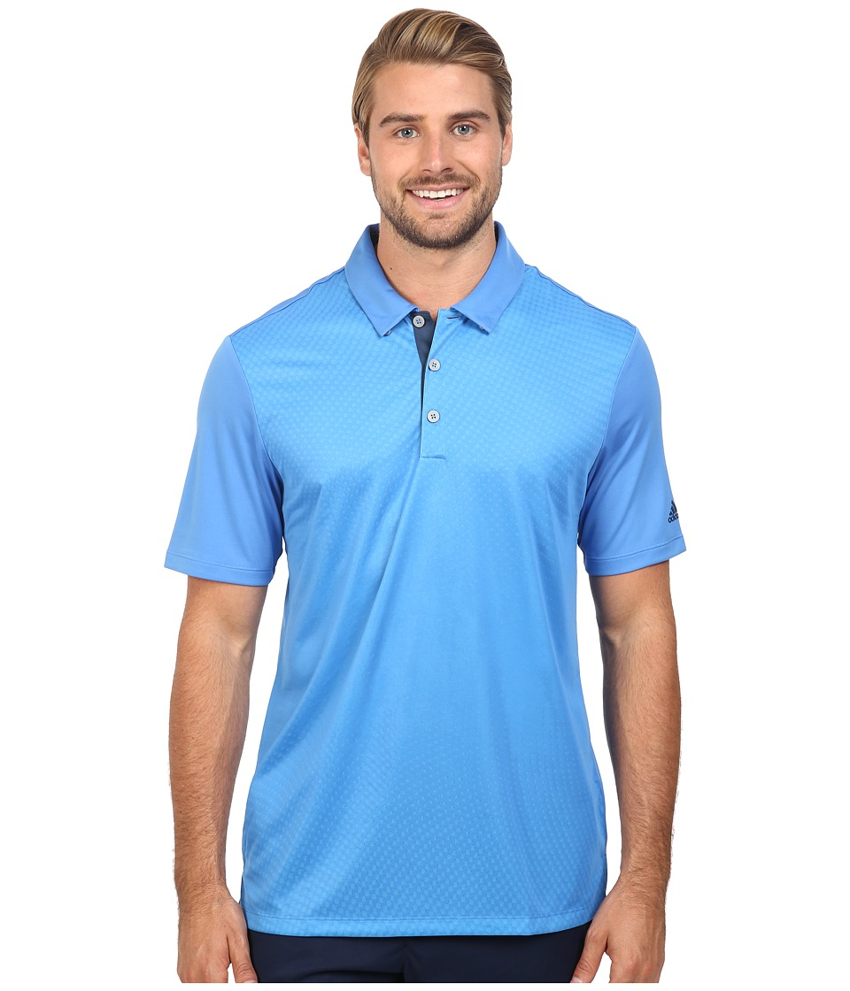 adidas Golf - CLIMACOOL Gradient Polo (Ray Blue) Men's Clothing