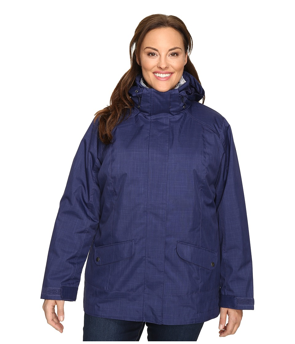 Columbia - Plus Size Sleet to Street Interchange Jacket (Nightshade) Women's Coat