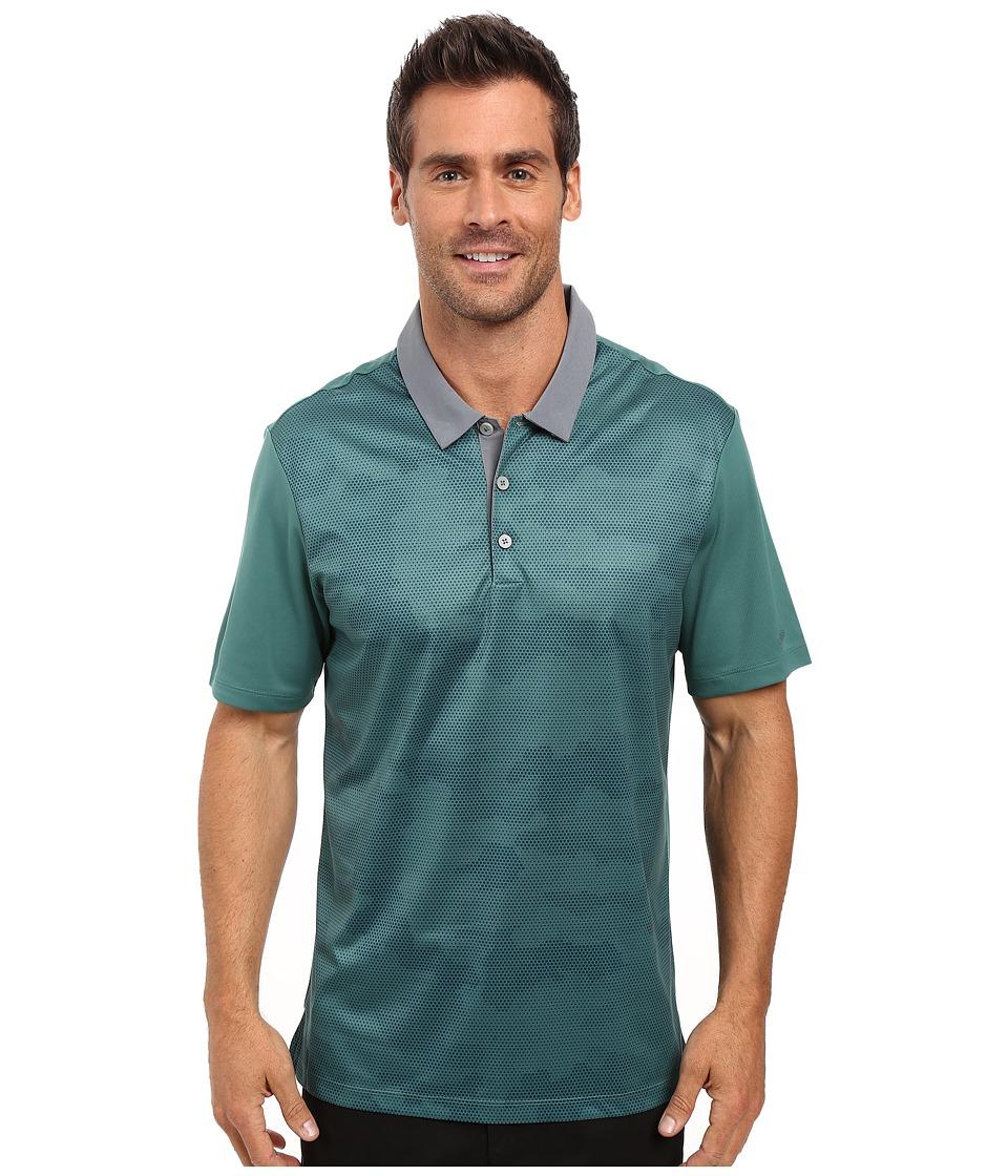 adidas Golf - CLIMACHILL Camo Print Polo (Tech Forest) Men's Clothing