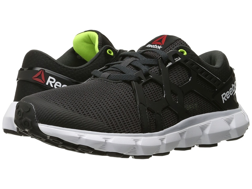 Reebok Hexaffect Run 4.0 MTM (Coal/Black/Cloud Grey/White/Solar Yellow) Women
