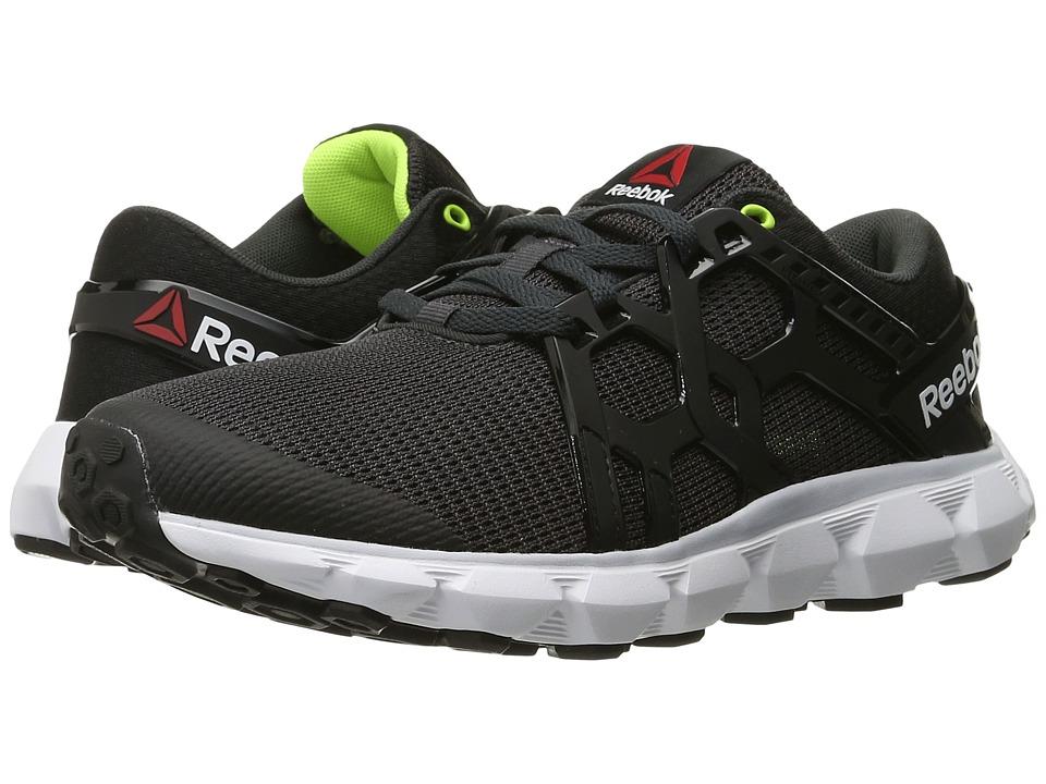 Reebok - Hexaffect Run 4.0 MTM (Coal/Black/Cloud Grey/White/Solar Yellow) Women's Running Shoes