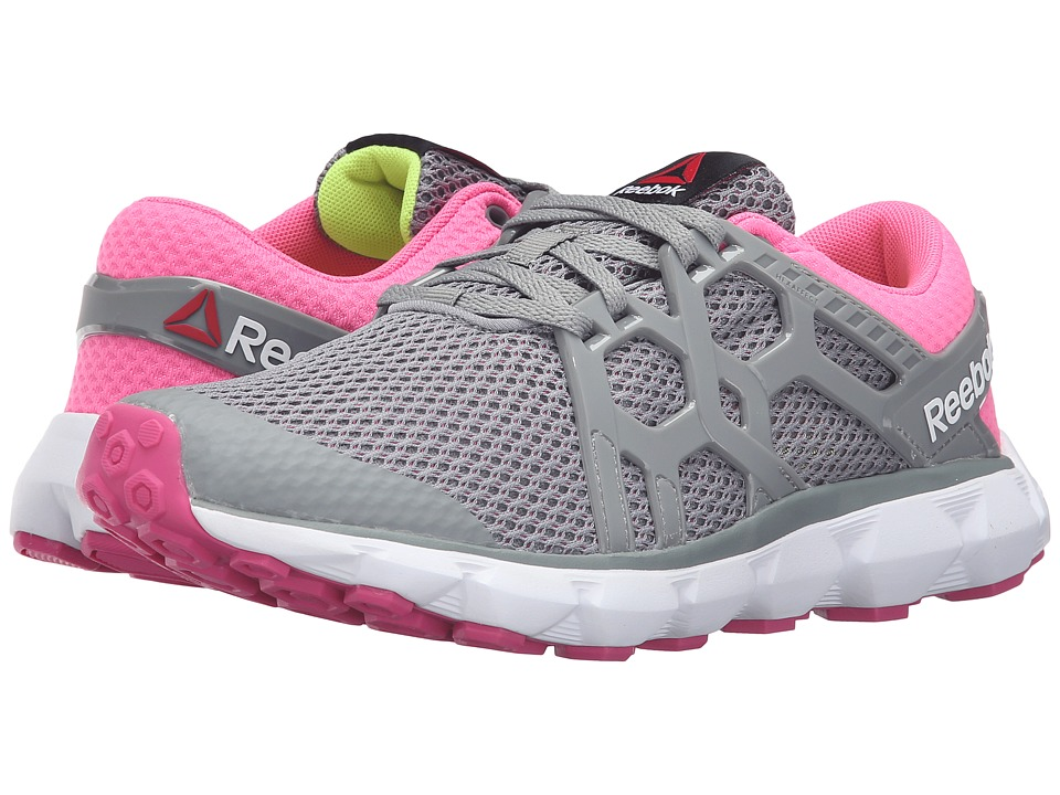 Reebok - Hexaffect Run 4.0 MTM (Flat Grey/Poison Pink/Rose Rage/White/Solar Yellow) Women's Running Shoes
