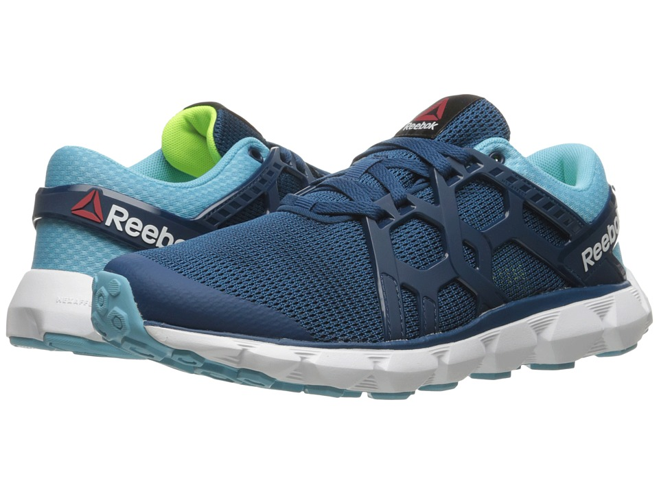Reebok - Hexaffect Run 4.0 MTM (Noble Blue/Crisp Blue/White/Solar Yellow) Women's Running Shoes