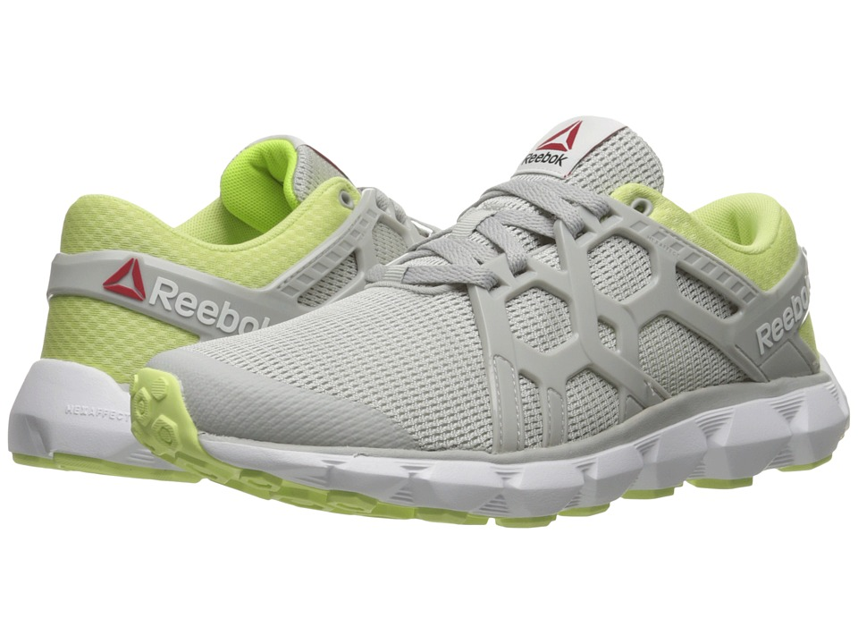 Reebok - Hexaffect Run 4.0 MTM (Skull Grey/Lemon Zest/White/Solar Yellow) Women's Running Shoes
