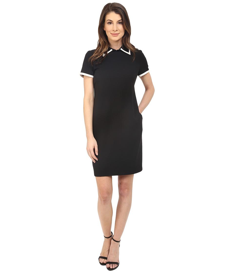 Badgley Mischka - Chemise with Collar (Black/Ivory) Women's Dress