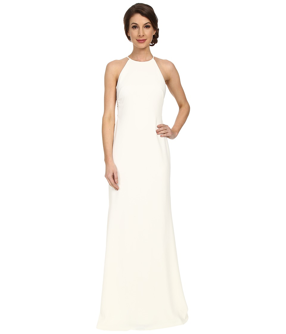 Badgley Mischka - Lattice Odessa Gown (Ivory) Women's Dress