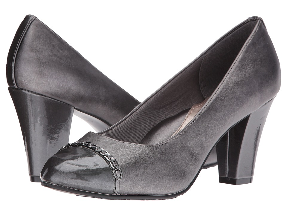 Soft Style - Calina (Dark Pewter Vitello/Dark Grey Pearlized) Women's 1-2 inch heel Shoes