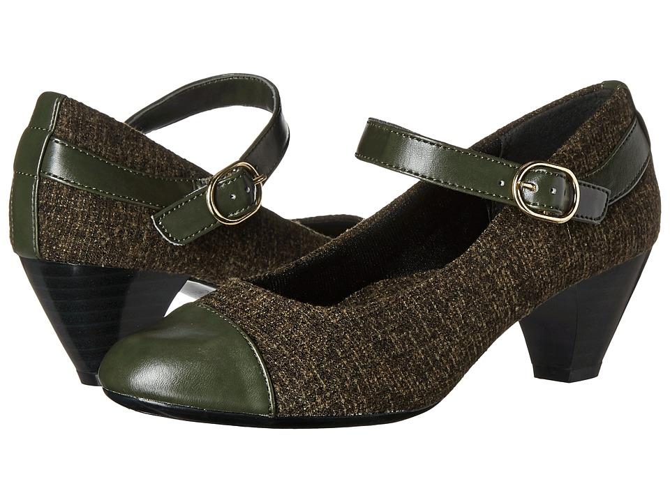 Soft Style - Geena (Rosin Tweed/Rosin Vitello) Women's 1-2 inch heel Shoes