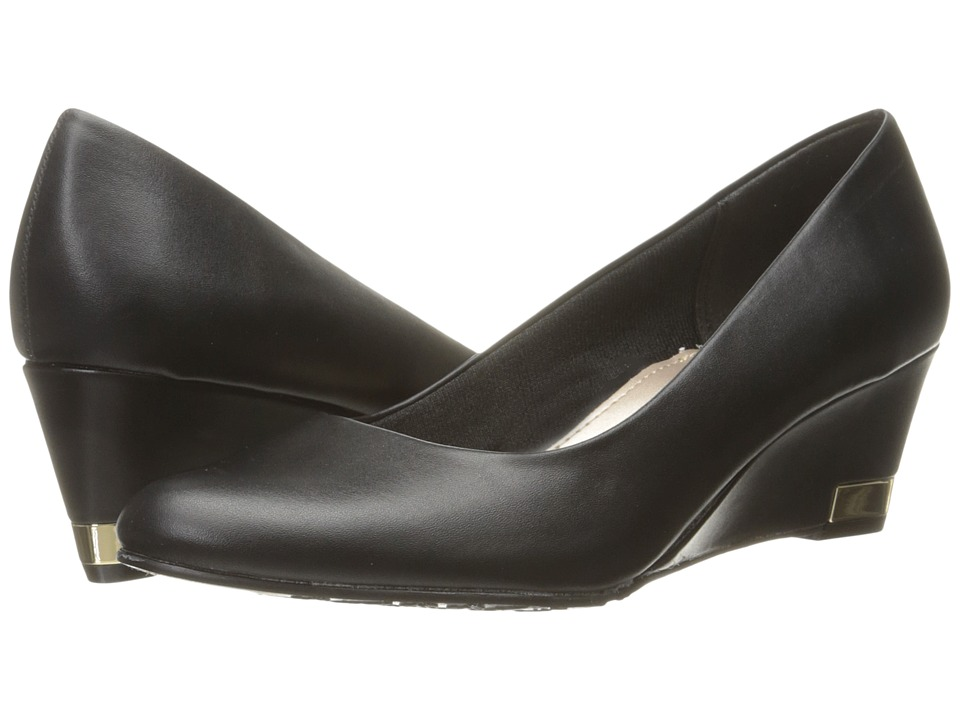 Soft Style - Gana (Black Leather) Women's Wedge Shoes