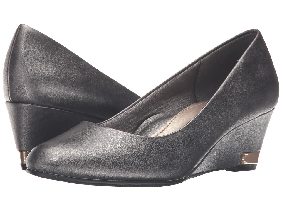 Soft Style - Gana (Dark Pewter Vitello) Women's Wedge Shoes
