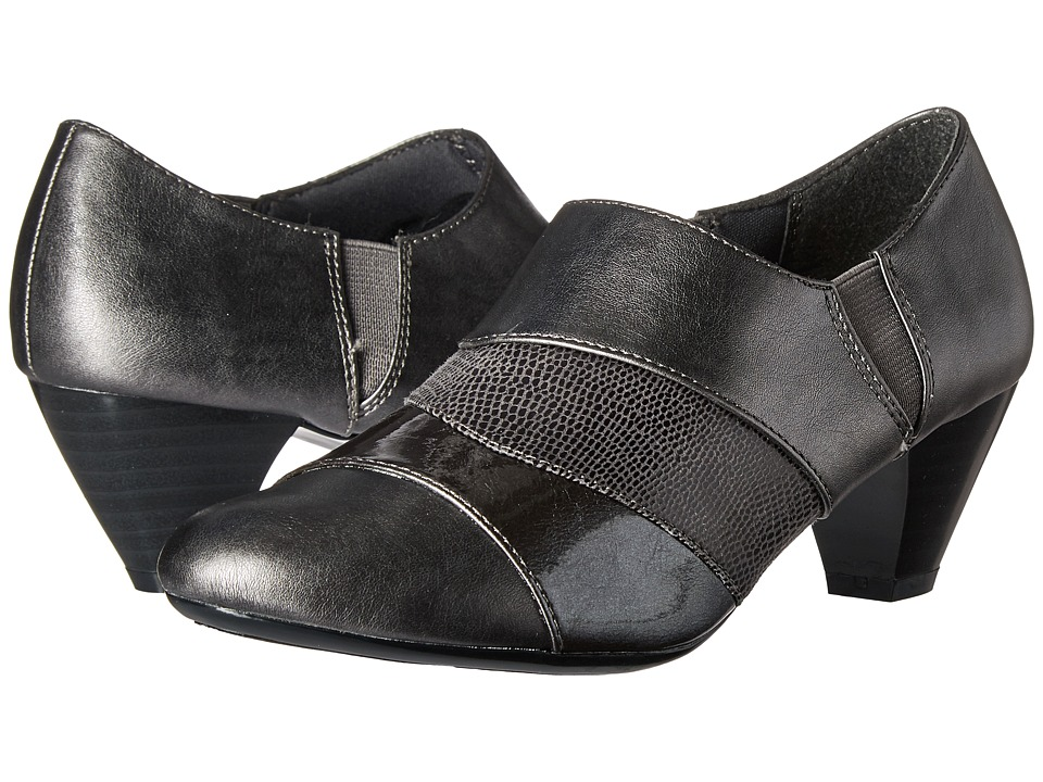 Soft Style - Geva (Dark Pewter Vitello/Pearlized Patent/Lizard) Women's 1-2 inch heel Shoes