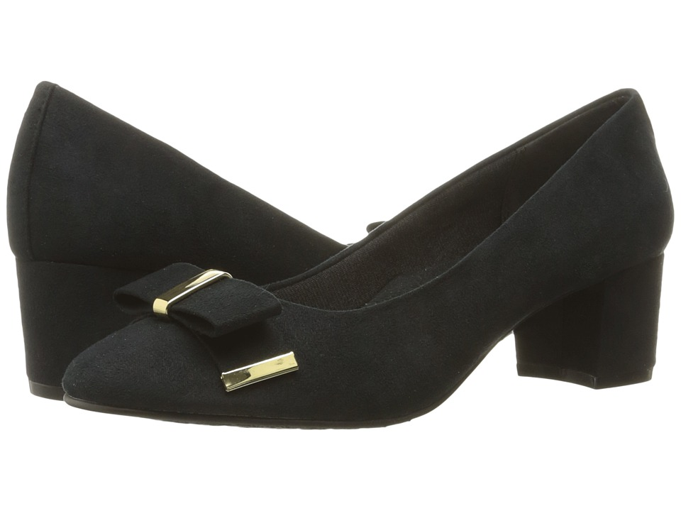 Soft Style - Tacita (Black Faux Suede) Women's 1-2 inch heel Shoes