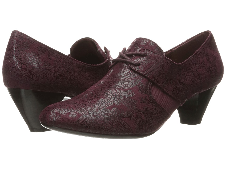 Soft Style - Gretel (Dark Brown Paisley Faux Suede) Women's 1-2 inch heel Shoes