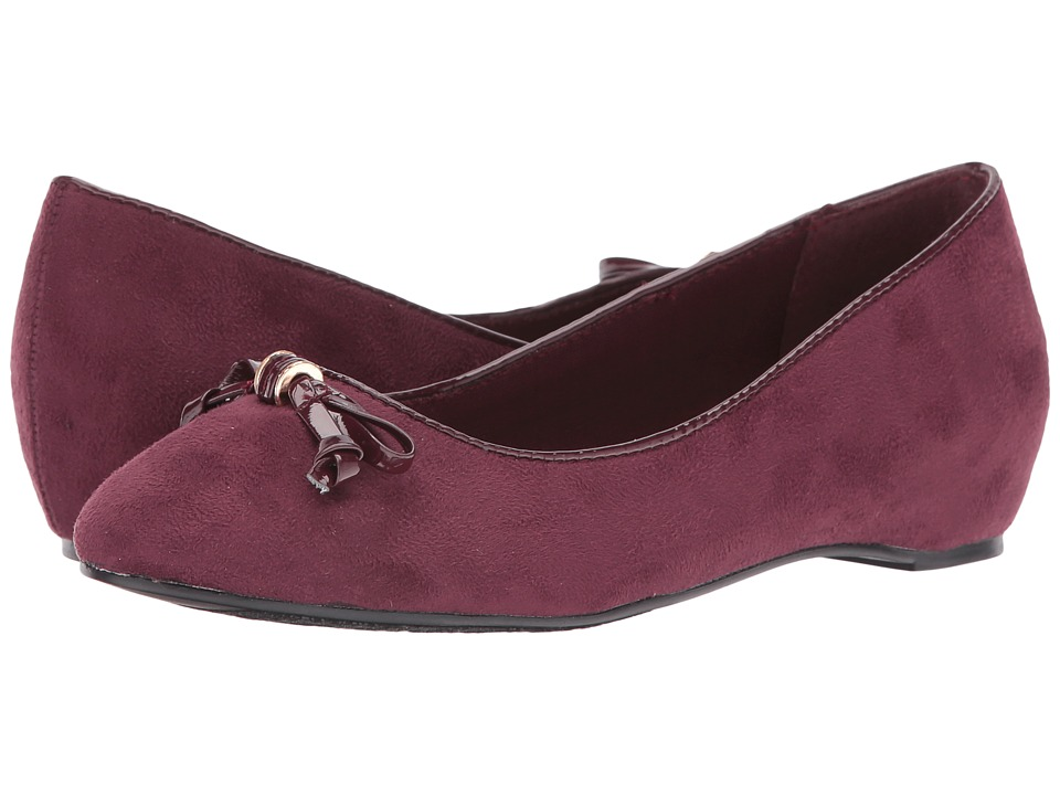 Soft Style - Cahill (Sassafras Faux Suede/Sassafras Patent) Women's Dress Flat Shoes