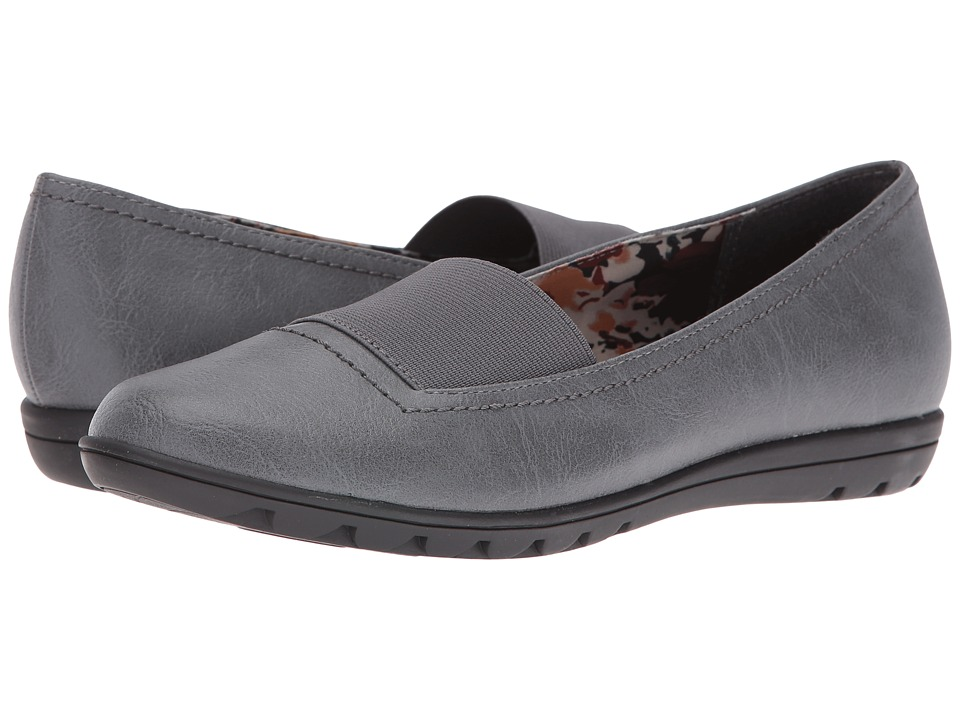 Soft Style - Varya (Dark Grey Leather) Women's Shoes