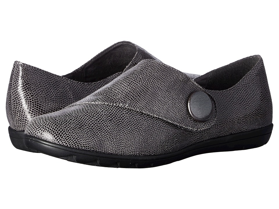 Soft Style - Veda (Dark Grey Lizard) Women's Slip on Shoes