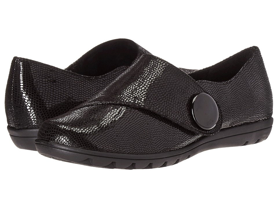 Soft Style - Veda (Black Lizard) Women's Slip on Shoes