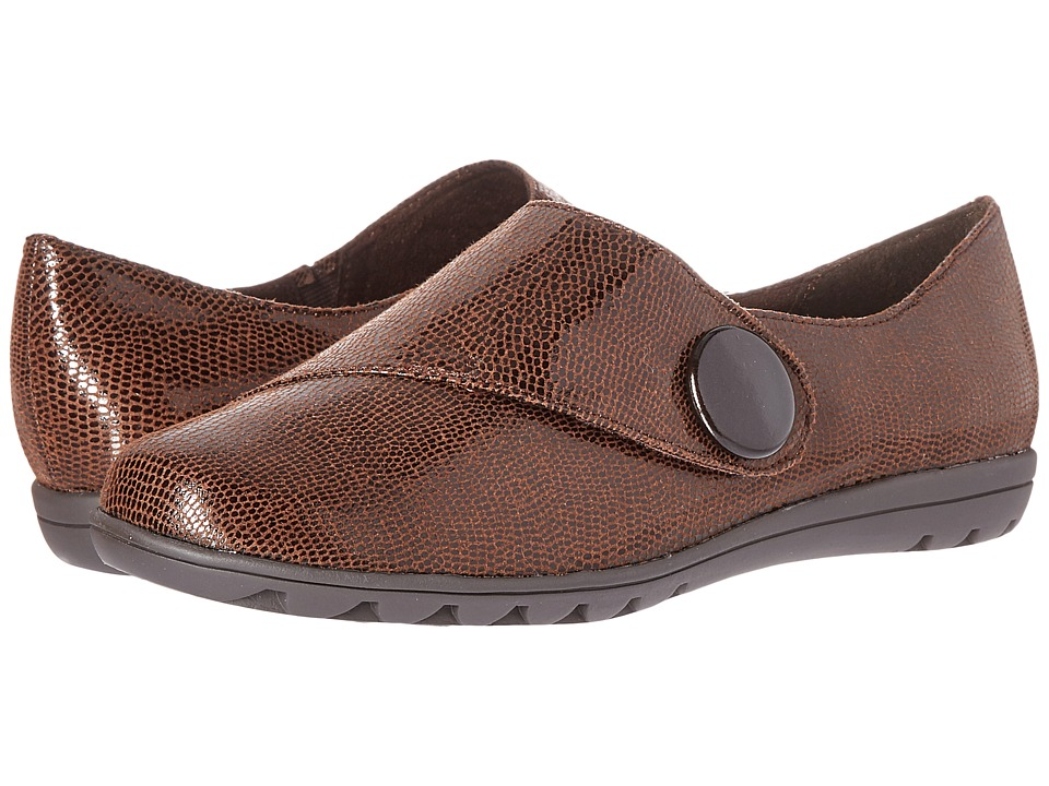 Soft Style - Veda (Dark Brown Lizard) Women's Slip on Shoes