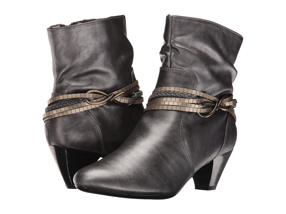 Soft Style - Gayla (Dark Pewter Vitello) Women's Pull-on Boots