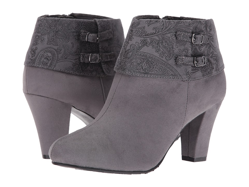 Soft Style - Creel (Dark Grey Faux Suede/Dark Grey Paisley) Women's Pull-on Boots
