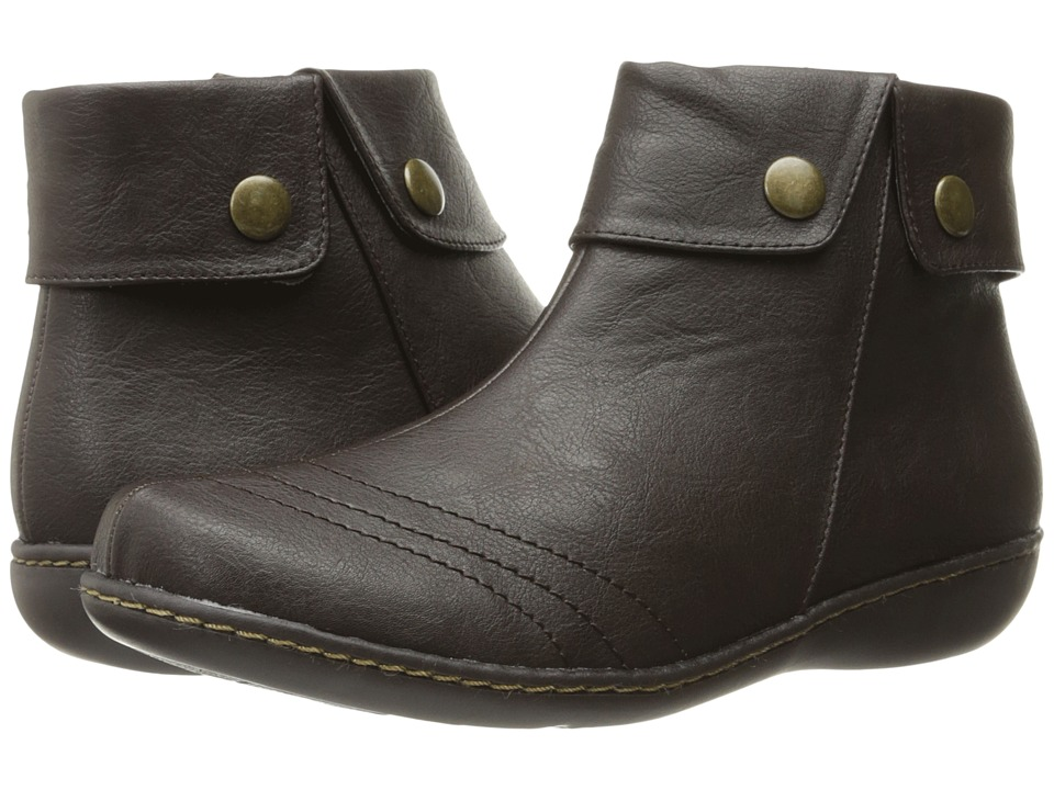 Soft Style - Jerlynn (Dark Brown Leather) Women's Pull-on Boots