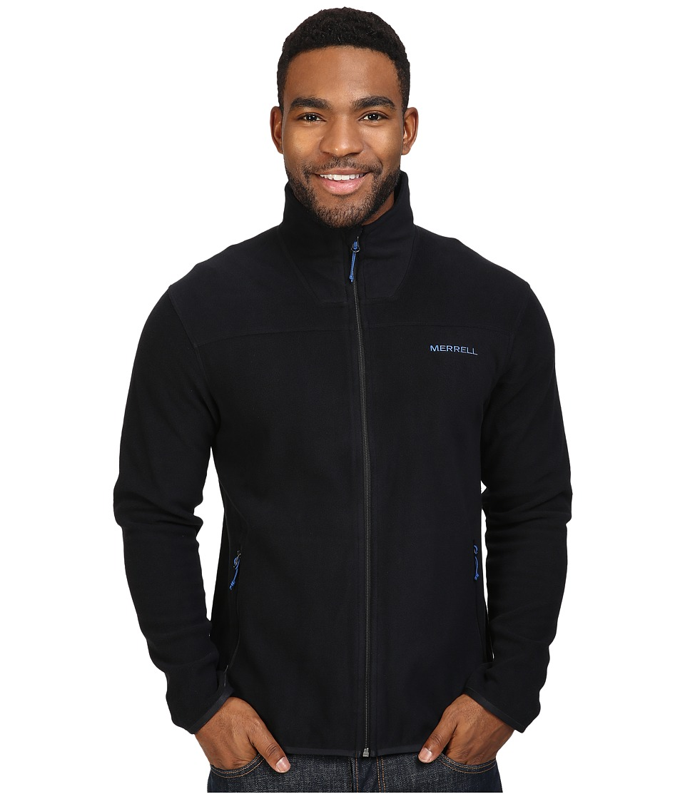 Merrell - Chillgard Full Zip Fleece Top (Black) Men's Long Sleeve Pullover