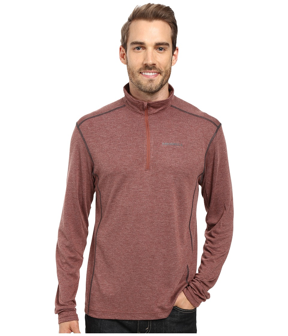 Merrell - Geom 1/2 Zip Tech Tee (Andorra Heather) Men's Long Sleeve Pullover