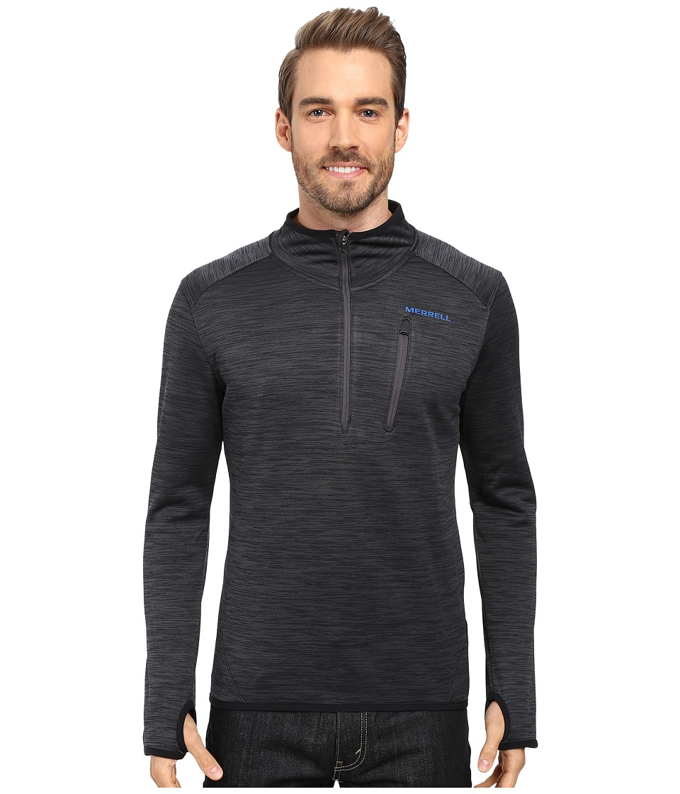 Merrell - Fraxion 1/2 Zip Top (Asphalt Heather) Men's Long Sleeve Pullover