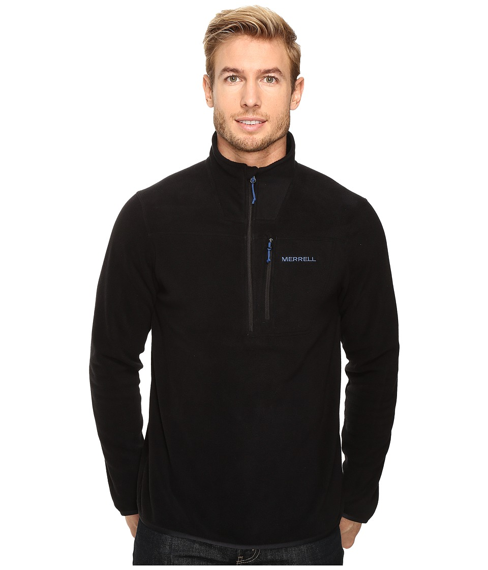 Merrell - Chillgard 1/4 Zip Fleece Top (Black) Men's Long Sleeve Pullover