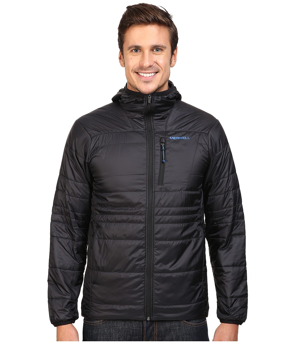 Merrell - Hexcentric Hooded Jacket 2.0 (Black) Men's Coat