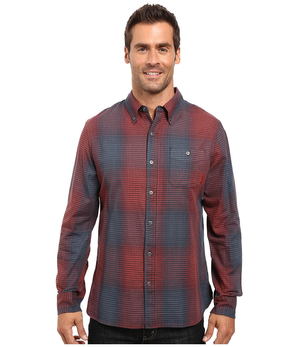 Merrell - Farvel Flannel Shirt (Ink) Men's Long Sleeve Button Up